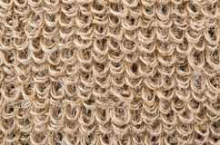 Loops of rough flax fabric Royalty Free Stock Photography
