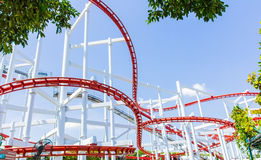 The loops of a scaring roller coaster Stock Photography