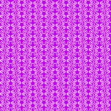 Loops Texture Seamless Pattern Background. Renaissance graphical purple loops texture with circular white lines. Seamless texture pattern background Royalty Free Stock Images
