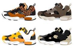Loopschoenen - Tennisschoenen vector illustratie