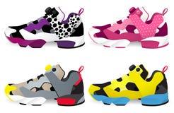 Loopschoenen - Tennisschoenen stock illustratie