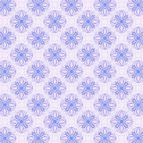 Loopy Star Abstract. Loopy star or cross repeating pattern, colored in blue and lavender.  Abstract background design with paper grain Stock Photo