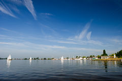 Loosdrechtse plassen in Holland Stock Photos