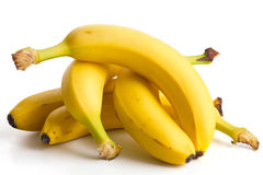 Loose bananas in a pile Royalty Free Stock Photos
