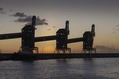 Loose cargo conveyors in Barbados royalty free stock image