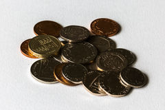 Loose Change Coins Sterling Isolated Royalty Free Stock Photography