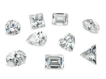 Diamond shapes on White Background - Fancy Polished Diamond Shapes