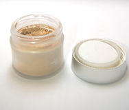 Loose face powder Royalty Free Stock Image
