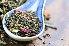 Loose green tea Stock Photography