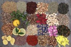 Loose Herb Tea Sampler Stock Photos