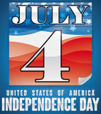 Loose-leaf Calendar with Reminder Date for Independence Day, Vector Illustration Stock Images