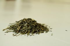 Loose Leaf Green Tea Royalty Free Stock Photography