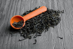 Loose leaf green tea Royalty Free Stock Images