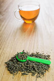 Loose leaf green tea Stock Image