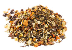 Loose Leaf Green Tea and  Rooibos with citrus Stock Photography