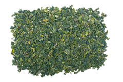Loose-Leaf Green Tea on White Background Royalty Free Stock Image