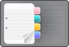 Loose-leaf notebook Stock Image