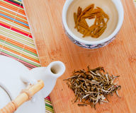 Loose leaf tea preparation Stock Photography