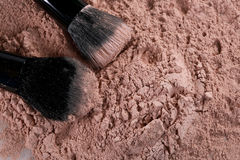 Loose Make Up Foundation Close Up With Detail Royalty Free Stock Image