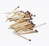 Loose of matches. On a light background Stock Photos