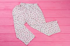 Loose pants with floral print Royalty Free Stock Image