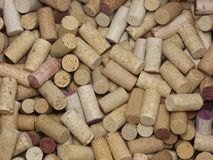 Loosely Stacked Pile of Many Natural Wine Corks royalty free stock photo