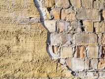 Loose plaster horizontal Stock Photo