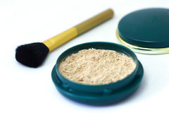 Loose powder. Powder brush with loose powder Stock Photography