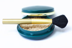 Loose powder. Powder brush with loose powder Royalty Free Stock Photo