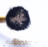 Loose powder. Powder brush with loose powder Royalty Free Stock Images
