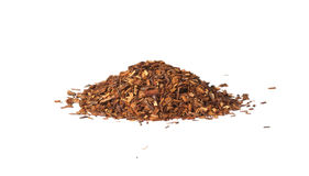 Loose Rooibos red tea,  isolated. Loose dry Rooibos red tea,  isolated on white background Royalty Free Stock Photography