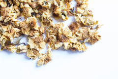 Loose-tea , Oolong flower tea. Dried Oolong flower tea on white background Stock Photo