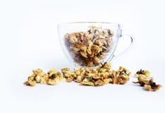 Loose-tea , Oolong flower tea. In glass cup Stock Photos