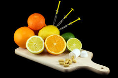Loose weight - consume fruits Stock Photo