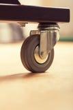 Loose wheel of industrial cart Stock Image
