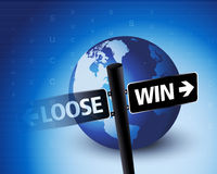 Loose & win situation Stock Photography