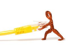 Loose the Wire Copper Dude Royalty Free Stock Image