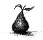 Loosely sketched pear Stock Image