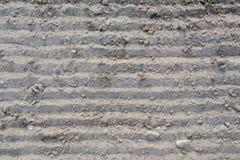 Loosened soil texture. Loosened grey soil texture - background Royalty Free Stock Photos