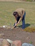 Loosening soil Stock Photo