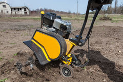 Loosens the soil cultivator close-up Stock Photos