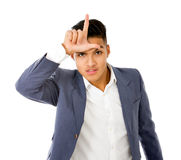 Looser gesture Stock Photography