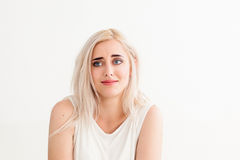 Looser with stupid expression on her face Royalty Free Stock Image