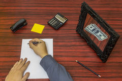 Loosing money concept Stock Photography