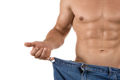 Loosing weight Stock Image