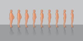 Loosing weight vector illustration
