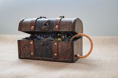 Free Loot Box, Open Treasure Chest Stock Photo - 104743060