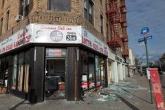 Looted convenience stor after the Superstorm Sandy Stock Image