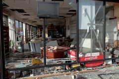 Looted convenience stor after the Superstorm Sandy Royalty Free Stock Photos