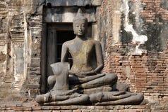 Lop Buri, Thailand: Buddha at Prang Sam Yot Stock Images